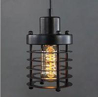 Vintage Wrought Iron Pendant Lamp Restaurant Lights Edison bulbs Single head Hanging Lighting Fixture Free shipping PV004