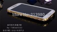 New Style 50pcs Luxury Crystal Rhinestone Diamond Bling Metal TPU Case Cover Bumper For Samsung Galaxy S4 I9500 Free Shipping