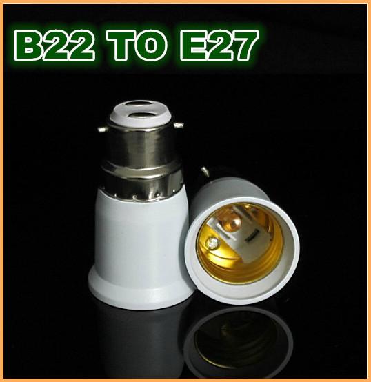 High quality ABS B22 TO E27 Edison screw socket base Adapter Converter led bulb lamp(China (Mainland))