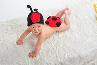 Free shipping newborn baby girls boys photography props Crochet Handmade wool modeling Insect 0-8M
