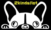 Free Shipping,2014 new car styling,waterproof funny dog+ making my family car sticker for Kia Rio,Opel Car covers