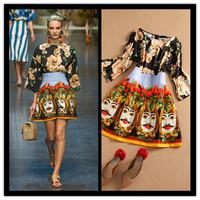 New 2014 Fashion Bingbing Fan Runway Flower And Head Vintage Evening Dress Headcounts Flower Printing Slim Celebrity Dresses