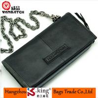 B.King Vanbatch Luxury Brand Vintage Original Long Desigual 100% Genuine Leather Mens Wallet With Chain , Billeteras Masculinas