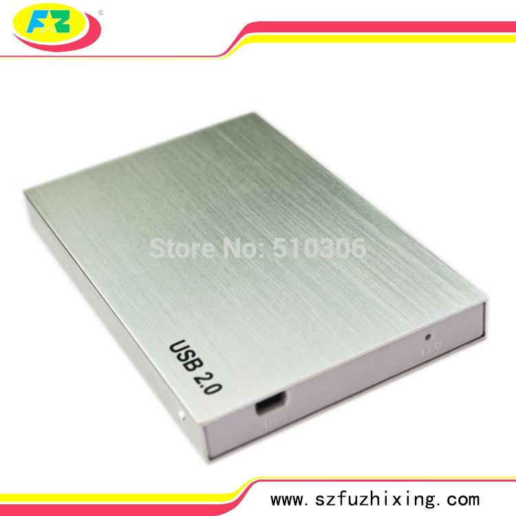 Free Shipping USB 2.0 SATA HDD Case 2.5'' Sata 1TB Serial ATA HDD Enclosure External Hard Drive Casing(China (Mainland))