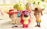 Woody Buzz Lightyear Jessie Lotso Mini PVC Action Figure Model Toys Dolls with Retail Box 8cm 5pcs/set