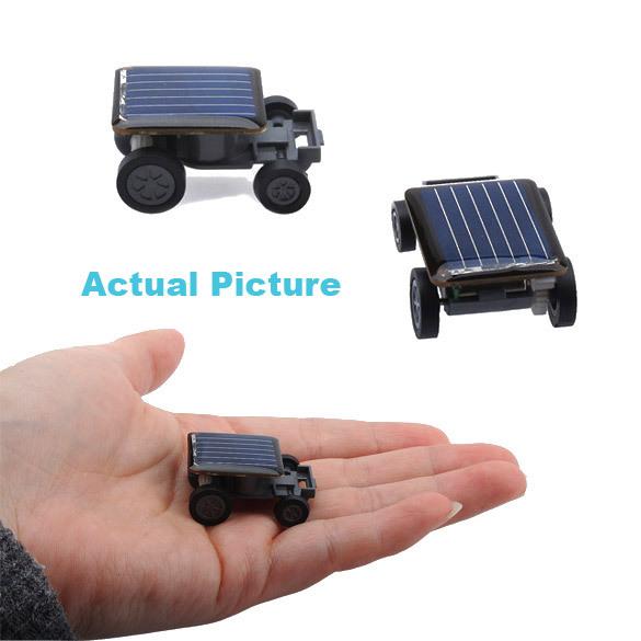 Lovely Solar Power Mini Toy Car Racer The World's Smallest Educational Gadget Children Gift PTSP(China (Mainland))
