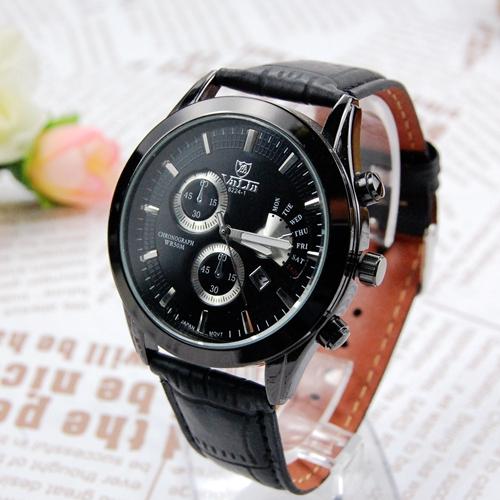 Army Casual Brand Clock Fashion Men'S Military Quartz Clock Luxury Black Leather Strap Belt Big Dial Watches Men Wristwatches(China (Mainland))