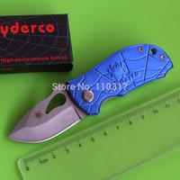 2 colors, Keychain EDC, Small pocket gift folding Knife, aluminum handle with pocket clip&knife lanyard hole, free shipping