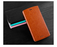 Flip Leather Case for OnePlus One Cover Plastic Back Case with Stand Function + Retail Packaging