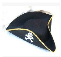 Wholesale 10pcs/lot 3 styles Halloween Costume Hats Cap Carnival Party Pirate Hat