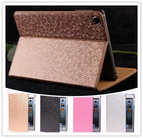 1pc bling Luxus verstellbare leder stehen sechseck rautenmuster magnetische smart cover case für ipad 2 ipad43 kostenloserversand