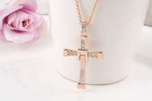 ROXI brand fashion rose gold plated cross pendant necklaces for women Fashion Gold Jewelry 2030479450