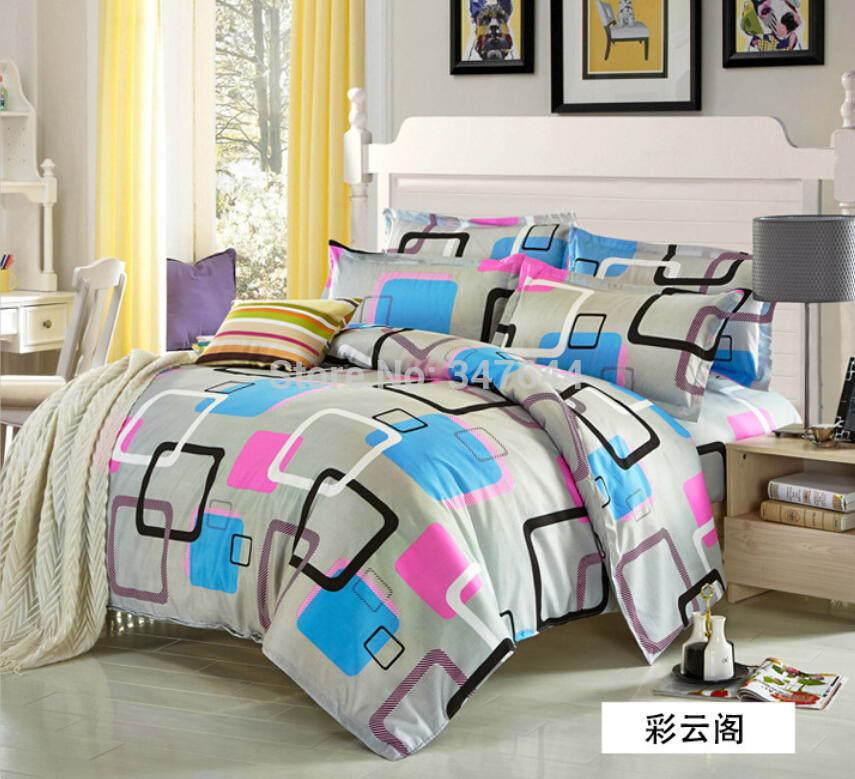 Cama definir Rainha Rei em tamanho moda Jogo de cama folha de cama de luxo para adultos sets Lençois capa de edredão roupas de cama Colcha 13(China (Mainland))