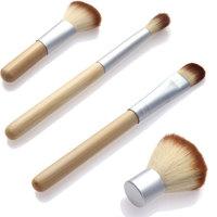 2015 HOT!! Fashion 4PCS Natural Bamboo Handle Makeup Brushes Set Cosmetics Tools Kit Powder Blush Brushes