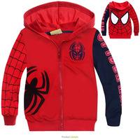 1Pcs Retail!2015 new fashion coat!children's coat,boys cartoon clothes 100% cotton printed,children clothing,Children's jacket