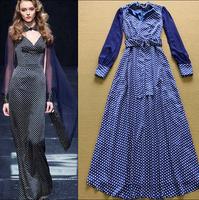 2014 runway dress women's High quality  vintage dresses brand dresses H101505