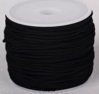 best new arrival black white mixed 1.5mm 2mm nylon 160M/175yards/lot Chinese knot tread Shamballa cord String Nylon Rope