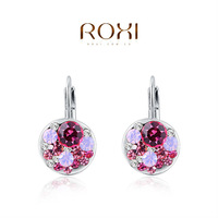 2015 ROXI fashion girls colorful earrings ,earrings for elegant women party,Nickeless,wholesale,Christmas/birthday gifts,