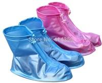 2014 Fashion Rain Shoes Cover Women/Men/Kids Children Thicken Waterproof Rainproof Boots Portable In Bags Free Shipping
