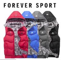Cool new 2014 men sport jacket sleeveless hooded man vest outwear brand male vest autumn coats 4 colors