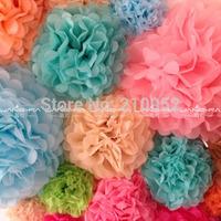 Free Shipping 9pcs mixed 3 sizes(10cm,15cm,20cm)Tissue Paper Pom Poms Wedding ,Party, Baby Shower, Nursery, Festival Decoration