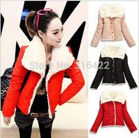 Free Shipping 2014 winter warm coats women wool slim double breasted wool coat winter jacket women fur women's coat jackets A034