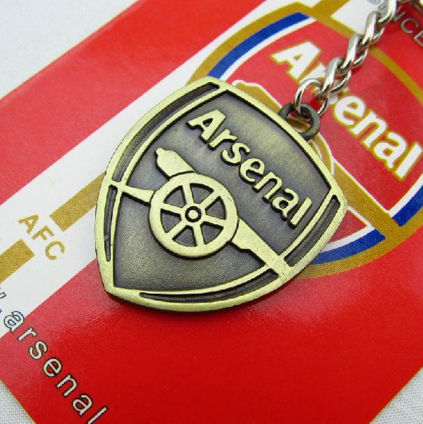 Fans suministros recuerdos de fútbol llavero llavero de bronce titular Arsenal cadena dominante del Metal europa de clubes de fútbol llavero(China (Mainland))