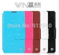 Free shipping 5pcs original BEPAK cases for Lenovo K910   Win series Flip leather case + Retail box