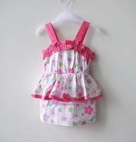 Retail spring new arrive 2014 baby kid children girl gift summer clothing flowers jacket coat Condole belt ruffled dress 1019#