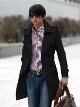 Reliable Quality Trade New Windbreaker Long Slim England Men Fashion Trench Windbreaker Jacket Male Promotion(China (Mainland))