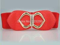 Fashion Metal Wide Elastic Letter Double C Women Brand Designer Cummerbund Leather Belt Woman Cinto Waistband Female Ceinture