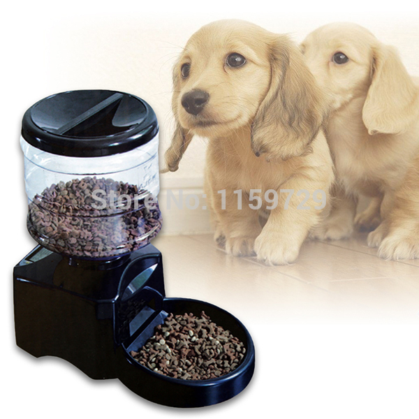 LARGE 5L AUTOMATIC DIGITAL PET FEEDER AUTO CAT & DOG DRY FOOD DISPENSER(China (Mainland))