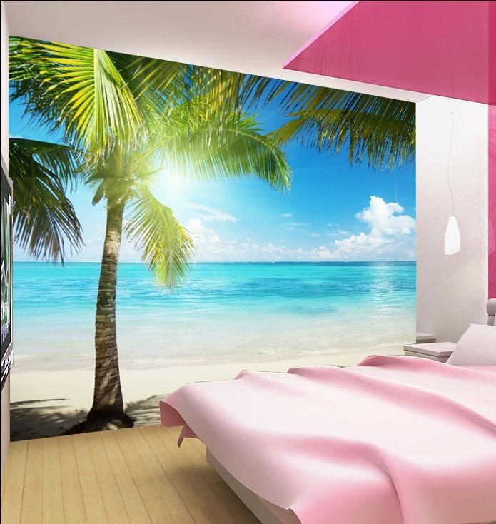 Image gallery ocean wallpaper for bedroom for Beach wallpaper mural