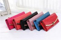 New Women Luxury Faux Leather Wallet Lady Long Purse Handbbag Clutch Bags