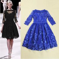 2015 new arrive vintage runway dress quality brand dress