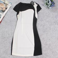 O mercado russo vendendo roupas assimétrica combinação de cores das mulheres cultivar a moralidade novos vestidos de verão(China (Mainland))
