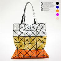 2014 Trend Geometry Colors 6x6 Plaid Women Wristlet Bags Special Counter Totes Messenger Bag Handbag bao bao ISSEY MIYAKE BG052