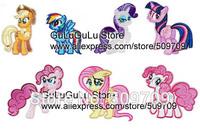 7 designs of Little Pony Embroidered Iron on Patch, Cartoon Horse Children's Patch Sticker, Cute Children DIY Cloth Accessories