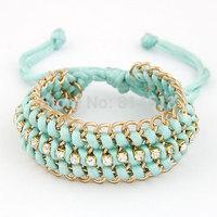 Min Order $20(mixed order)Free shipping Fashion hot-selling handmade women metal trendy bracelets wristband jewelry