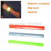 10pcs/lot,30CM length,Reflective Wristband,slap band,slap wrap,3 colors, free shipping to all countries