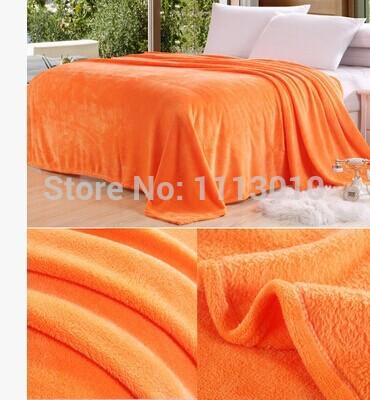 200*230cm coral fleece FL flannel blanket bed sheets child blanket air conditioning blanket student blanket solid color carpet(China (Mainland))