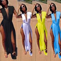 3XL Plus Size Summer Dress 2014 Women Sexy Long Dress Sleeveless Cut Out Blue Black White Maxi Dress Evening Party Club Dresses