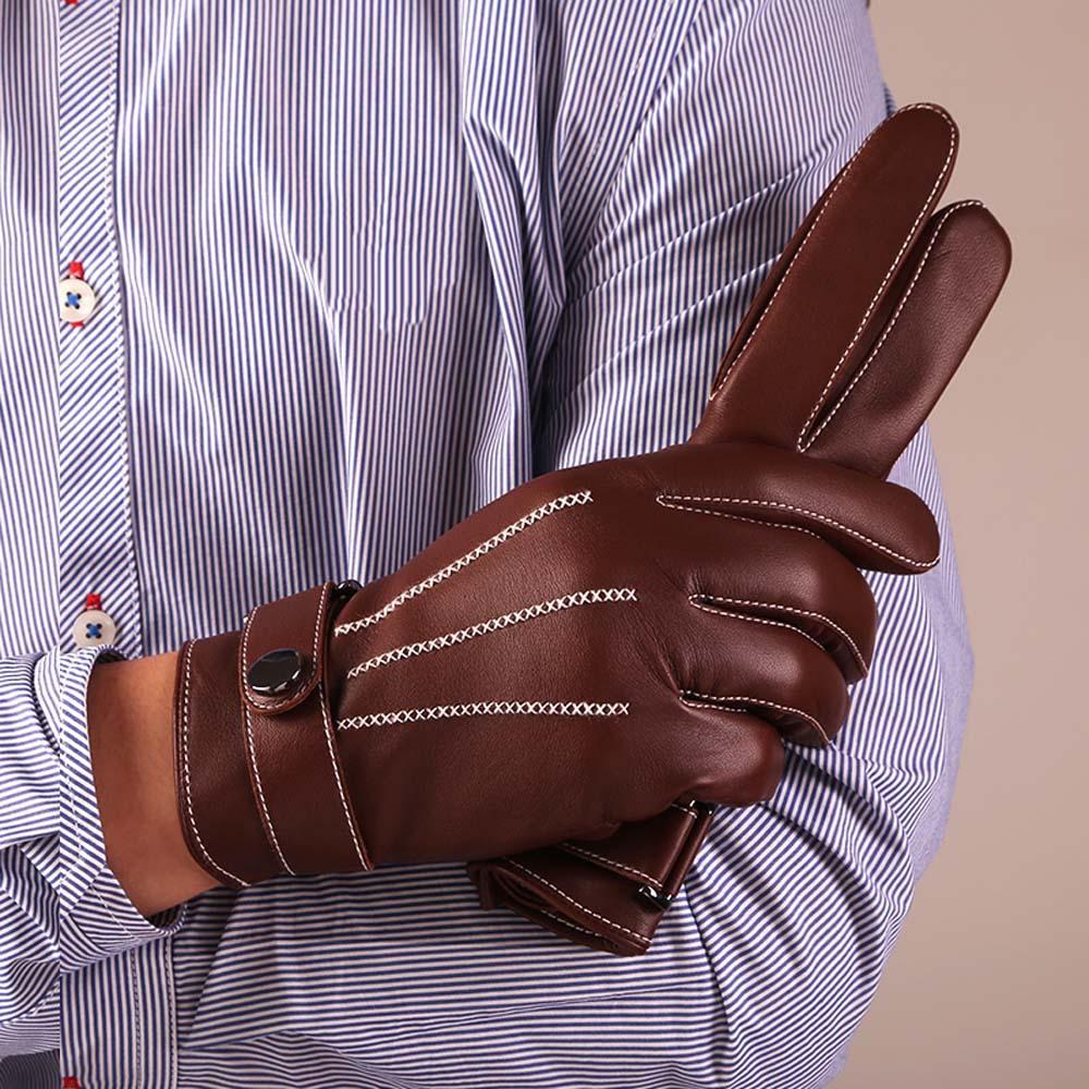 Online kopen Wholesale bruin lederen motorhandschoenen uit China bruin lederen motorhandschoenen