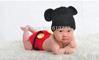 Free shipping newborn baby children girls boys child photography props Crochet Handmade wool modeling   sweater set 0-8M