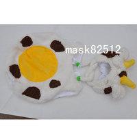 Free shipping newborn baby children girls boys child photography props Crochet Handmade wool modeling   Dairy cow one-piece 0-8M