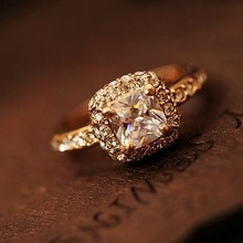 Choke a small chili with full jewelry princess wedding ring zircon ring B1 99 R063