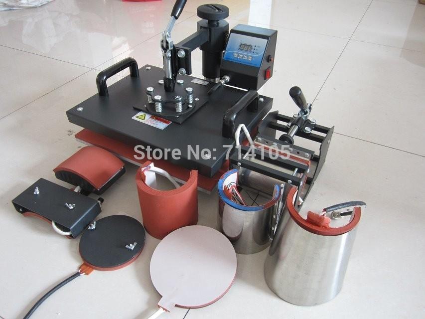 Scarf image printer Advanced intellect china 8 in 1 image Design combo shenzhen Tshirt press machine(China (Mainland))