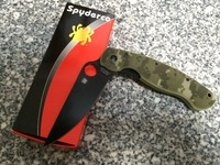 NEW High End Best Camo Spyderco Millitary C36 Style Mark S30V folding Knife Free shipping highly recommend