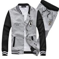 2014 Free Shipping cotton men Sport Package sports suit zipper Leisure Sports Set size L XL XXL 3XL 4xL