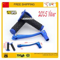 50cc 250cc Angle Bent Gear Lever Shifter Changer blue color protaper handble bar grip Dirt Bike free shipping